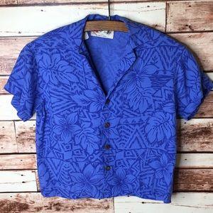 The Hawaiian Original Vintage Urban Crop Top Shirt